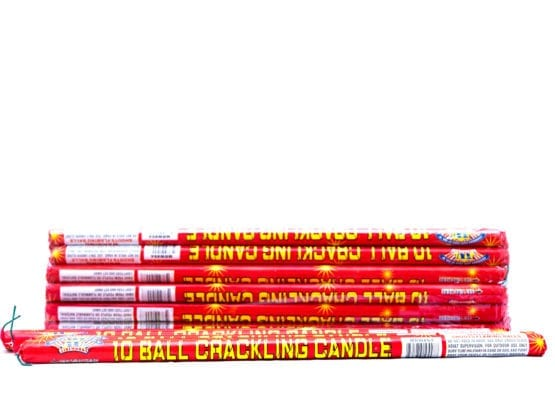 10 Ball Color Crackling Roman Candle (Buy 1 Get 5 Free!)