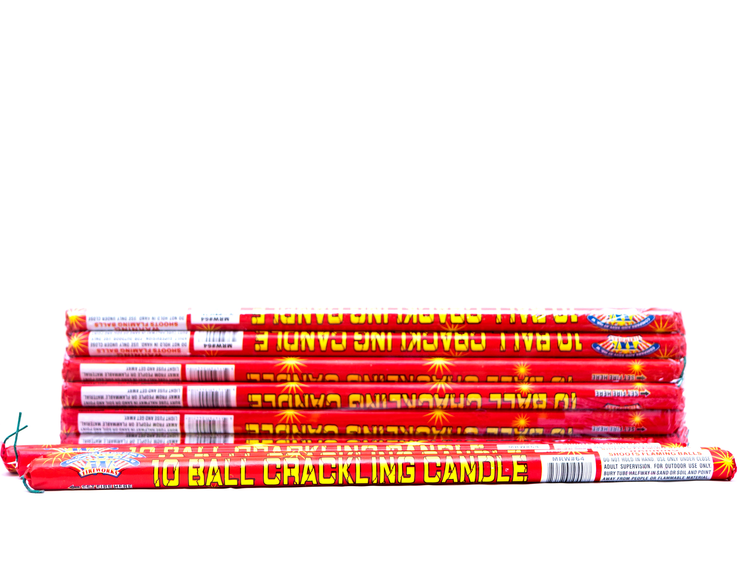 10 Ball Color Crackling Roman Candle (Buy 1 Get 1 Free!)