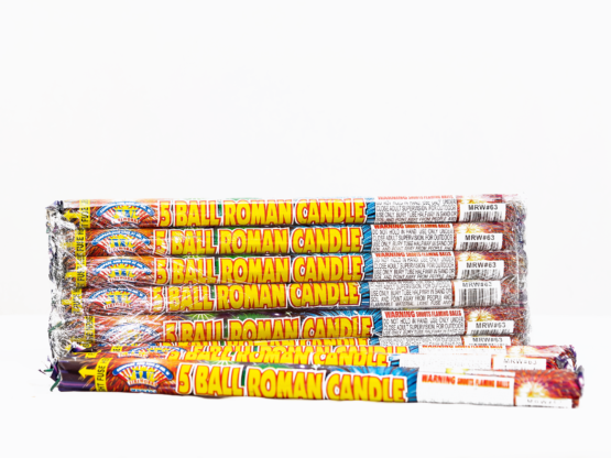 5 Ball Star Light Roman Candle (Buy 1 Get 5 Free)